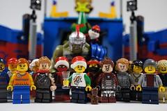 Happy New Year 2018! (Mike LEGO) Tags: lego new year celebration newyear minifigures photography macro toys build bricks marvel city ironman comics spiderman thor artistry happynewyear presents winter