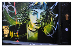 STREET ART by ALICE PASQUINI (StockCarPete) Tags: london art character graffiti urban uk female door alicepasquni londonstreetart streetart urbanart