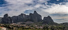 Clouds Over Meteora (Michael Leshets) Tags: mountain range peak hiking scenics sky travel mountains clouds blue cloud rock forest green landscape meteora greece