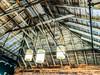 3 lights (Thorßjorn) Tags: downtown remodel restoration reclaimed barn whirewashed whitewash vintage ceilinglights ceiling lights