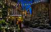 Rudolph is just around the corner (Norbert Clausen) Tags: thebluehour blaue hour bluehour stunde blue church chapel christmas old weihnachtsmarkt christmasmarket romantic