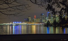 December In Vancouver (Clayton Perry Photoworks) Tags: vancouver bc canada night lights christmas explorebc explorecanada city skyline reflections stanleypark coalharbour panorama