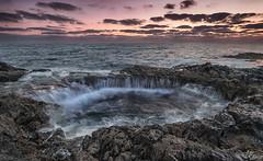 Bufadero de la Garita - Telde (Urugallu) Tags: bufadero la garita telde mar oceano atlantico islas canarias amanecer alba color luz nubes rocas olas urugallu joserodriguez canon 70d flickr