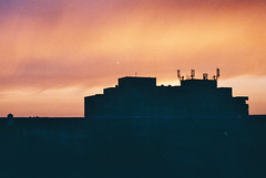 A storm of sunset 1.2 (CristinaDiaconu23) Tags: analog analogue analogphotography 35mm film minolta x300s fujifilm filmcamera filmclub filmphotography filmisalive sunset orange color rainbow twilight dusk romania summer home shadow burn sky city bigcitylife