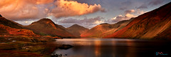 Dusk at Wast Water (Dave Massey Photography) Tags: wastwater wasdale greatgable yewbarrow scafell lakedistrict mountains scenic outdoor