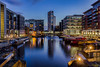 City Lights (peterwilson71) Tags: reflections night lights boats lock sky leeds yorkshire canal city canon6d longexposure