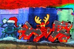 Seasonal New York Street Art (jomak14) Tags: iphone6plus christmasinnyc newyorkstreetart colorsoftheseason thestreetsofnewyork wheremyrunningshoestakeme