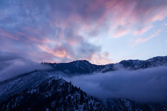Sunset over Icicle Ridge (James*J) Tags: leavenworth cascades washington sunset serene nature mountains northwest outdoor pnw state orange clouds central red blue dusk wa tree purple forest golden hour sky snow black landscape pacific mountain fotocompetitionbronze fotocompetition