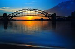 Iconic Sydney Sunrise (Atilla2008) Tags: december sydney australia iconic harbour sydneyharbourbridge sunrise colour dawn slowshutter d90 nikon