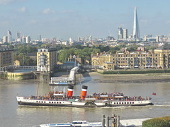 Waverley (Deepgreen2009) Tags: waverley paddlesteamer preserved last famous thames river canarywharf passing downstream