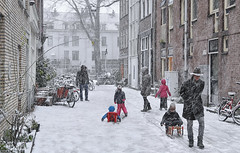 Sledding in the freshly fallen snow (B℮n) Tags: amsterdam snow covered bikes bycicles holland netherlands canals winter cold wester church jordaan street anne frank house dutch people scooter gezellig cafés snowy snowfall atmosphere colorful windows walk walking bike cozy boat light rembrandt corner water canal weather cool sunset file celcius mokum pakhuis grachtengordel unesco world heritage sled sleding slee seagull nowandthen meeuw seagulls meeuwen bycicle 1°c sun shadows sneeuw brug slippery glad flakes handheld wind anjeliersstraat madelievenstraat 100faves topf100