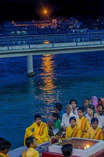 nighttime Hindu ceremony