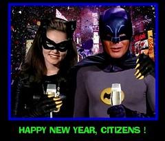 BATMAN 1966 CELEBRATING NEW YEAR'S EVE WITH CATWOMAN (DarkJediKnight) Tags: batman television 1966 catwoman newyear newyearseve adamwest julienewmar humor parody spoof fake