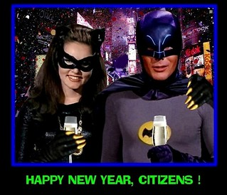 BATMAN 1966 CELEBRATING NEW YEAR'S EVE WITH CATWOMAN