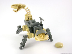 Chibi Rock Slizer/Granite Throwbot (Unijob) Tags: lego technic slizer throwbot throwbots throw bot disc granite rock beige tan pickaxe pickaxes 90s classic figure construction constraction bionicle old robot miner mining robo machine creature legged four legs quadruped automaton slizers discs collectible toy toys action unijob lindo