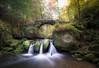 Schiessentümpel Cascade (.Stevve) Tags: grün green brücke bridge steine stones nature natur luxembourg mullerthal herbst fall