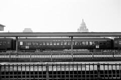 rn1-271s (George Hamlin) Tags: rhode island providence railroad passenger station new haven lightweight coach 8344 american flyer nh state capitol building dome platform tracks train shed fences photo decor george hamlin photography
