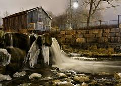 Abraham Erb's Grist Mill At 1am (Underock) Tags: mill nikon d500 night longexposure building streetlight
