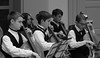 Cello Choir, Cantigny Park. 1 (EOS) (Mega-Magpie) Tags: canon eos 60d indoors people person cello choir cantigny park wheaton il illinois dupage america guy boy lady girl bw black white mono monochrome musicians