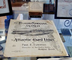 Sheet music for the Florida Special March, dedicated to the Atlantic Coast Line 1309 (Tangled Bank) Tags: visiting david browning railroad museum old atlantic coast line depot palatka florida classic heritage vintage train trains railway brailways railways railroads