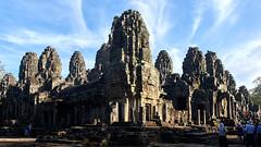 The Bayon - 45° view (Nicolas Bousquet) Tags: angkor tom bayon cambodia asia temple ruins cham kmer siemreap pentax pentaxk3 k3 limited da15