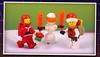 Space Christmas (Unijob Lindo) Tags: lego space christmas xmas leg godt old vintage classic spaceman red santa claus father spirit ice planet chainsaw orange transparent chain saw snow man snowman helmet visor white mtron hat present presents 90s 80s photo polaroid background filter