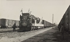 Israel Railways - ISR (ex-Egyptian State Railways) Co-Co diesel locomotive - El Arish Station, 1967 (HISTORICAL RAILWAY IMAGES) Tags: esr isr gm diesel locomotive 1967 רכבת ישראל israel railways train