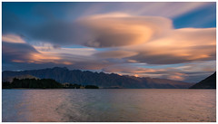 Lenticular Cloud (Pepyn Thysse) Tags: lenticular clouds longexposure sunset queenstown newzealand remarkables