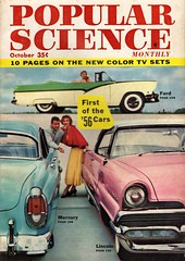First of the '56 Cars (aldenjewell) Tags: 1956 ford fairlane convertible mercury 4door sedan lincoln premiere hardtop popular science magazine cover