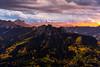 Beam of Light above Silver Jack (Matt Payne Photography) Tags: aspen autumn chimneyrock clouds colorado fall fallcolors landscape mountains ridgway sanjuanmountains sony5518 sonya7r2 sunset beam