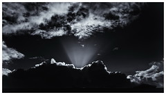 Volcano (RadarO´Reilly) Tags: vulkan volcano himmel sky wolken clouds sw schwarzweis bw blackwhite monochrome blanconegro noiretblanc zwartwit föhr nf nordfriesland