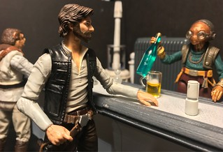 Han: Thanks Maz I owe you one.   Maz: You owe me more than that Han Solo and don't you forget it.