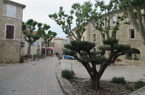 Place de la Fontaine, Peyriac-de-Mer, Corbières maritimes, Aude, Occitanie, France.