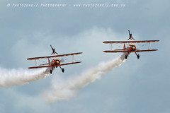 3394 Wingwalkers (photozone72) Tags: eastbourne airshows aircraft airshow aviation canon canon7dmk2 canon100400f4556lii 7dmk2 wingwalkers breitlingwingwalkers breitling stearman biplane