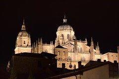 Salamanca, The Cathedral (Jacques Teller) Tags: spain espagne salamanca salamanque cathedral catedral silhouette night heritage worldheritage hill nightscape landscape nikond7200 jacquesteller 50mm ciudad patrimonio patrimoine sky architecture