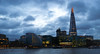 Shard and  clouds- at dusk (suzannesullivan2) Tags: light blue lowlight night dusk bluehour shard thames london clouds