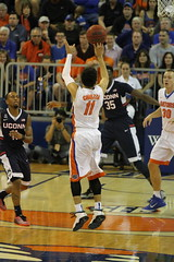 IMG_8017 GOOD! 3 PTR by Chris Chiozza for 3 (dbadair) Tags: universityuffloridagators201513connecticuthuskiesbasketballsecodomeucon florida unitedstates uf gators sec basketball ncaa o'connell center gainesville
