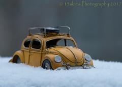 I Am Wondrous (HWW) (13skies) Tags: vw volkswagen snow evening cold fresh windows car yellow bug hww windowwednesday light outside weather bitter happywindowwednesday sonya99