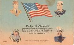 Postcrossing US-5049050 (booboo_babies) Tags: vintage unitedstates american america military pledgeofallegiance drawing postcrossing flag oldglory starsandstripes