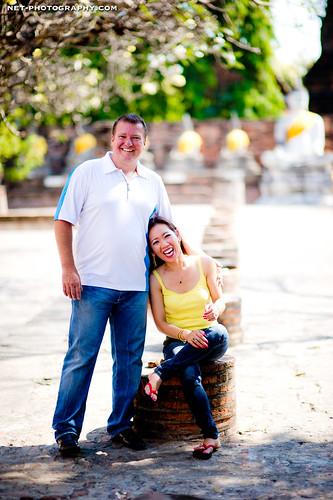 Thailand Ayutthaya Wat Yai Chai Mongkhon Engagement Session