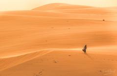 Experience Arabia (Fasih Ahmed) Tags: loner dunes desert arabiandesert woman lonewoman womenempowerment desertdunes saudiarabia saudia fasihahmed fasih dammam isolation isolated sandstorm