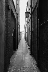 Alleyway (Number Johnny 5) Tags: alley tamron d750 nikon lines gloomy black bnw 2470mm bw alleyway noir white