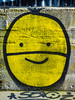 Lemon (Steve Taylor (Photography)) Tags: lemon smile soloz mural tag streetart graffiti black yellow contrast happy smiling fun fruit mask