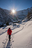 Woman in the snow (Alex - Born To Be Free) Tags: trekking hicking mountains alone viaggioperimmagini borntobefree snow landscape landscapes landscapemountain panorama panoramico panoramic paesaggio panoramica adventure walking wlakinginthesnow woman backlight sunstar
