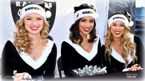 2017 Oakland Raiderettes Rachel, Shaniah & Angel