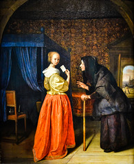 Jan Steen - Young Woman with a Letter, 1660 at Vermeer and the Masters Exhibit at National Gallery of Art - Washington DC (mbell1975) Tags: washington districtofcolumbia unitedstates us jan steen young woman with letter 1660 vermeer masters exhibit national gallery art dc nga museum museo musée musee muzeum museu musum müze museet finearts fine arts gallerie beauxarts beaux galleria painting dutch flemish golden age grand