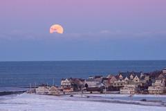 Wolfmoon Rising (alisonborrelli) Tags: supermoon fullmoon hull hullma massachusetts moon ocean snow ice fortrevere
