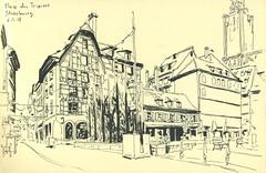 Place des Tripiers - Strasbourg (lolo wagner) Tags: croquis sketch usk urbansketchers strasbourg alsace rencontre