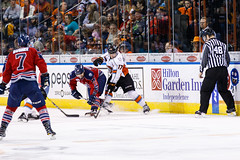 "Kansas City Mavericks vs. Kalamazoo Wings, January 5, 2018, Silverstein Eye Centers Arena, Independence, Missouri.  Photo: © John Howe / Howe Creative Photography, all rights reserved 2018. • <a style=""font-size:0.8em;"" href=""http://www.flickr.com/photos/134016632@N02/38681931255/"" target=""_blank"">View on Flickr</a>"