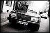 Volvo 740 (Krueger_Martin) Tags: berlin auguststrase festbrennweite primelense 30mm sigma verkehr traffic car volvo oldcar volvo740 black white schwarz weis blackandwhite schwarzundweis canoneos7d sigma30mmf14exdchsm city stadt urban